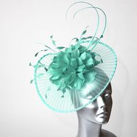 15618 Peppermint Green Wedding Fascinator SD772